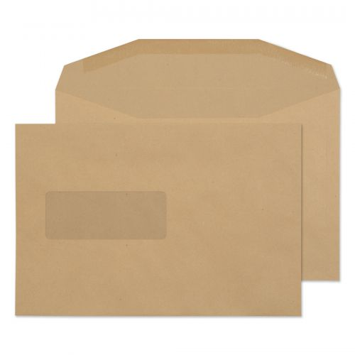 Purely Everyday Manilla Gummed Mailing Wallet Window C5+ 162x238 Ref 1009 Pk 500 *10 Day Leadtime*