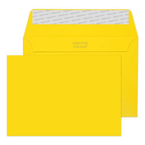 Creative Colour Banana Yellow P&S Wallet C6 114x162mm Ref 103 [Pack 500] *10 Day Leadtime*