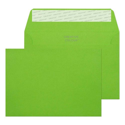 Creative Colour Lime Green Peel and Seal Wallet C6 114x162mm Ref 107 [Pack 500] *10 Day Leadtime*