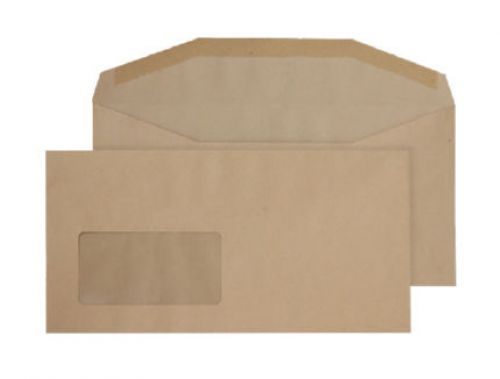 Purely Everyday Mailer Gummed Window Manilla 80gsm DL+ 121x235 Ref 1114 Pk 1000 *10 Day Leadtime*