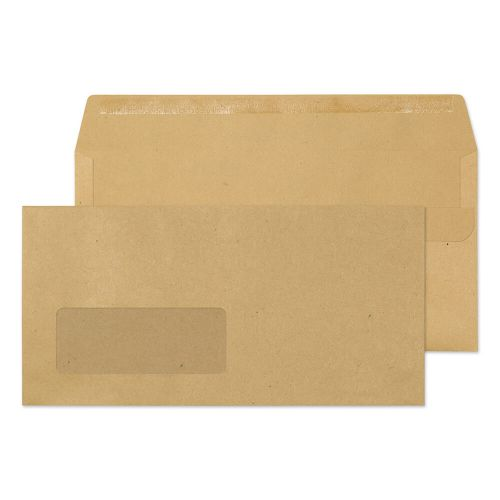 Purely Everyday Manilla Self Seal Wallet Window DL 110x220mm Ref 11884 Pk 1000 *10 Day Leadtime*