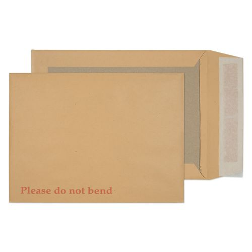 Blake Purely Packaging Manilla Peel & Seal Board Back Pocket 241X178mm 120Gm2 Pack 125 Code 11935 3P