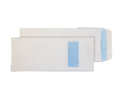 Purely Everyday White Self Seal Pocket Half Window C4 305x127mm Ref 1501 Pk 250 *10 Day Leadtime*