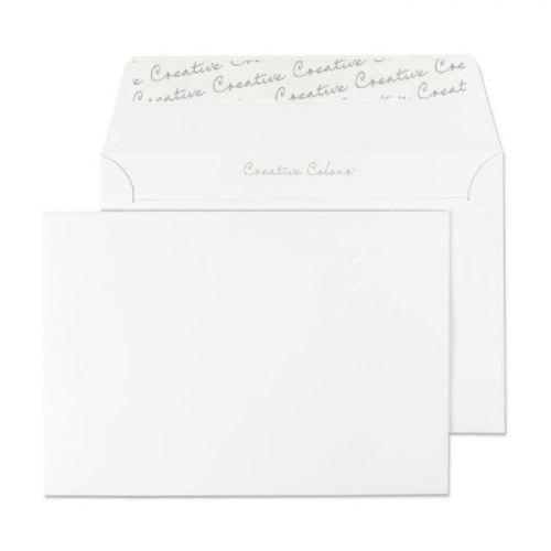 Blake Creative Colour Ice White Peel & Seal Wallet  114X162mm 120Gm2 Pack 500 Code 150 3P
