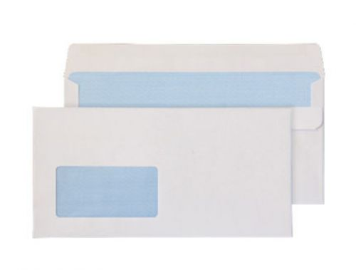 Purely Everyday White Self Seal Wallet Window DL+ 121x235mm Ref 16884 Pk 1000 *10 Day Leadtime*