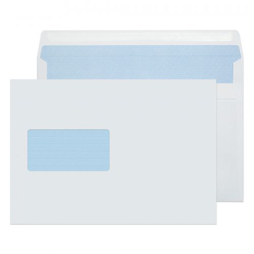 Purely Everyday White Self Seal Wallet Window C5 162x229mm Ref 1708 [Pack 500] *10 Day Leadtime*