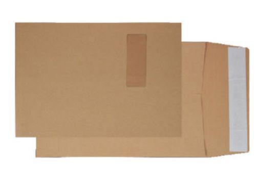 Blake Purely Packaging Manilla Window Peel & Seal Gusset Pocket 324X229X25 130G Pk125 Code 1992Mw 3P