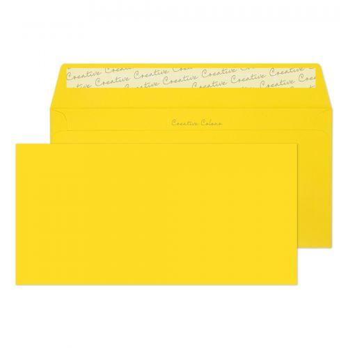 Blake Creative Colour Banana Yellow Peel & Seal Wa llet 114X229mm 120Gm2 Pack 500 Code 203 3P