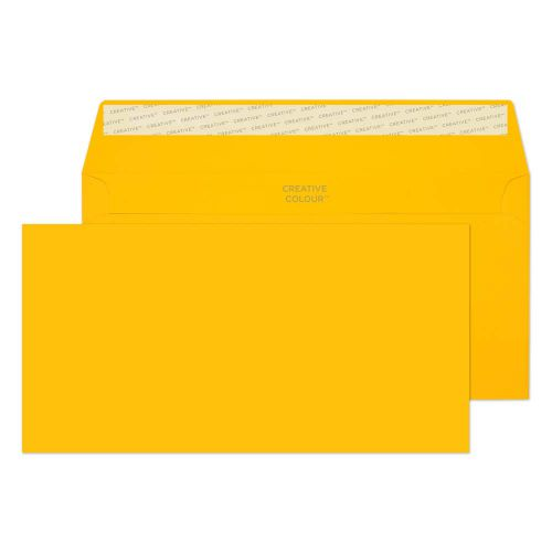 Creative Colour Egg Yellow Peel and Seal Wallet DL+ 114x229mm Ref 204 [Pack 500] *10 Day Leadtime*