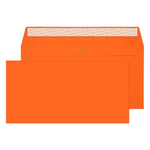 Creative Colour Pumpkin Orange P&S Wallet DL+ 114x229mm Ref 205 [Pack 500] *10 Day Leadtime*