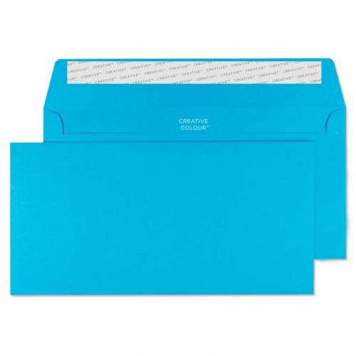 Creative Colour Caribbean Blue P&S Wallet DL+ 114x229mm Ref 210 [Pack 500] *10 Day Leadtime*