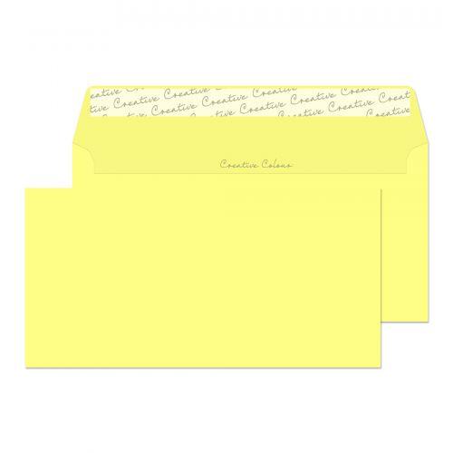 Creative Colour Lemon Yellow P&S Wallet DL+ 114x229mm Ref 216 [Pack 500] *10 Day Leadtime*