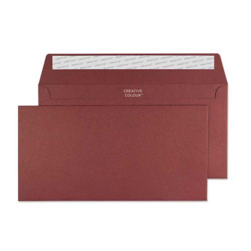 Creative Colour Wallet P&S Bordeaux 120gsm DL+ 114x229mm Ref 222 [Pack 500] *10 Day Leadtime*
