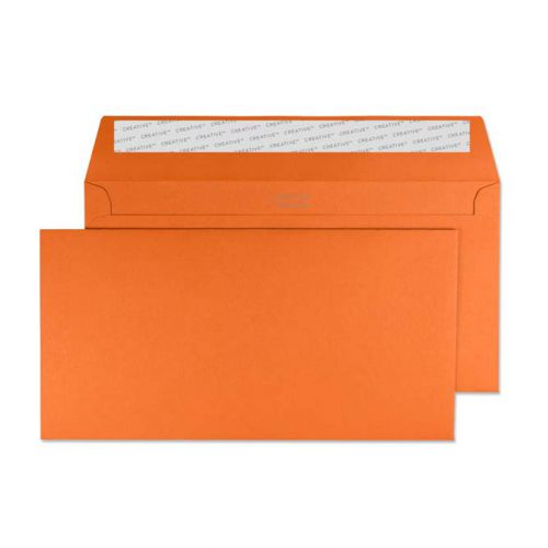 Creative Colour Wallet P&S Marmalade Orange 120gsm DL+ 114x229mm Ref 228 Pk 500 *10 Day Leadtime*
