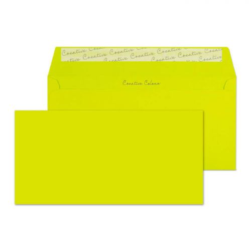Creative Colour Wallet P&S Acid Green 120gsm DL+ 114x229mm Ref 241 [Pack 500] *10 Day Leadtime*
