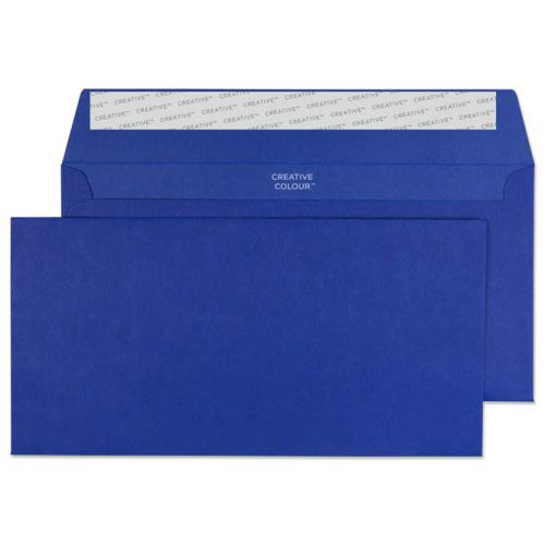 Creative Colour Wallet P&S Victory Blue 120gsm DL+ 114x229mm Ref 243 [Pack 500] *10 Day Leadtime*
