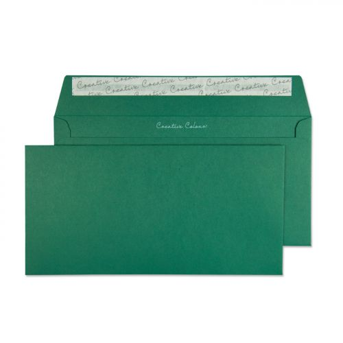Blake Creative Colour British Racing Green Peel & Seal Wallet 114X229mm 120Gm2 Pack 25 Code 25221 3P