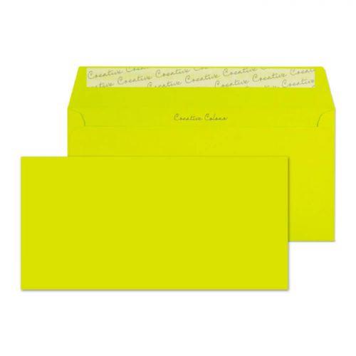 Blake Creative Colour Acid Green Peel & Seal Wallet 114x229mm 120gsm Pack 25 Code 25241