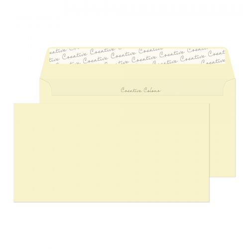 Creative Colour Wallet P&S Soft Ivory 120gsm DL+ 114x229mm Ref 252 [Pack 500] *10 Day Leadtime*