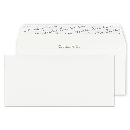 Creative Colour Wallet P&S Chalk White 120gsm DL+ 114x229mm Ref 255 [Pack 500] *10 Day Leadtime*