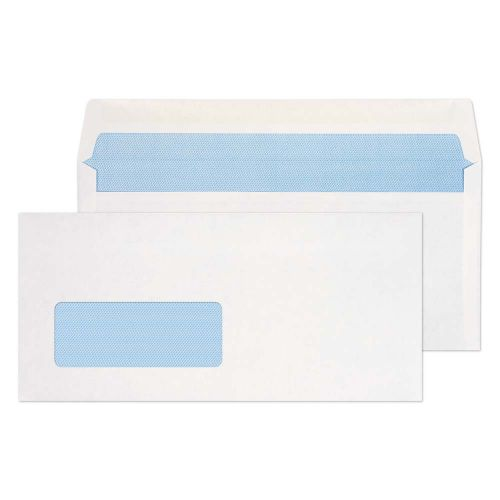 Blake Purely Everyday White Window Gummed Wallet 102X216mm 80Gm2 Pack 1000 Code 2901Bre 3P