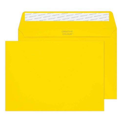 Creative Colour Banana Yellow P&S Wallet C5 162x229mm Ref 303 [Pack 500] *10 Day Leadtime*