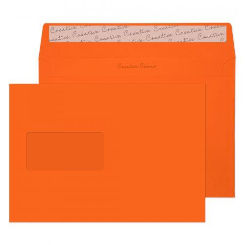 Creative Colour Pumpkin Orange P&S Wallet Window C5 162x229mm Ref 305W [Pack 500] *10 Day Leadtime*