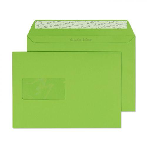Blake Creative Colour Lime Green Window Peel & Sea l Wallet 162X229mm 120Gm2 Pack 500 Code 307W 3P