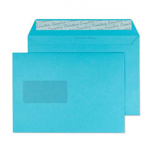 Creative Colour Cocktail Blue P&S Wallet Window C5 162x229mm Ref 309W [Pack 500] *10 Day Leadtime*