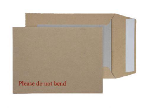 Blake Purely Packaging Manilla Peel & Seal Board Back Pocket 190X140mm 115Gm2 Pack 125 Code 3112 3P