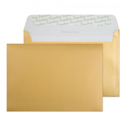 Blake Creative Shine Metallic Gold Peel & Seal Wallet 162X229mm 130Gm2 Pack 500 Code 313 3P