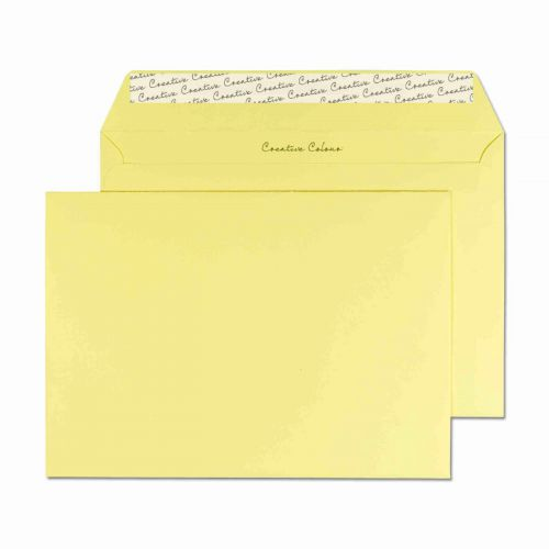 Creative Colour Lemon Yellow Peel and Seal Wallet C5 162x229mm Ref 316 [Pack 500] *10 Day Leadtime*
