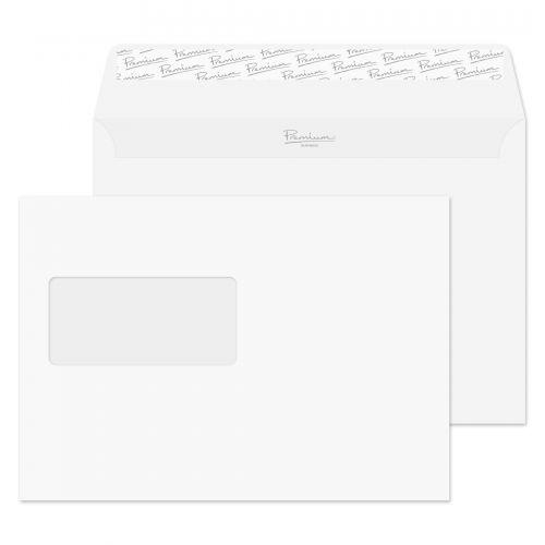 Blake Premium Business Ice White Wove Window Peel & Seal Wallet 162X229mm 120G Pk500 Code 31708 3P