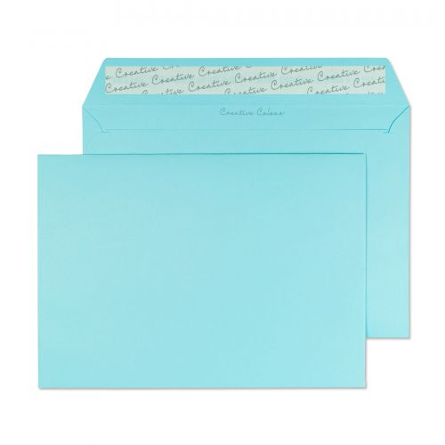 Blake Creative Colour Cotton Blue Peel & Seal Wall et 162X229mm 120Gm2 Pack 500 Code 318 3P