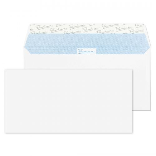 Blake Premium Office Wallet Envelope DL Peel and Seal Plain 120gsm White (Pack 500)