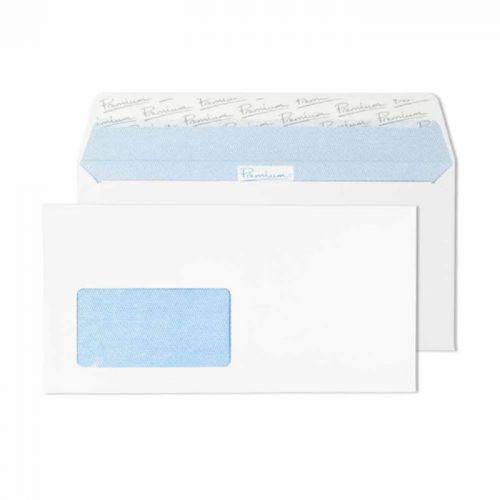 Premium Office Ultra White Wove Wallet P&S German Wndw DL Ref 32226DE Pk500 *10 Day Leadtime*