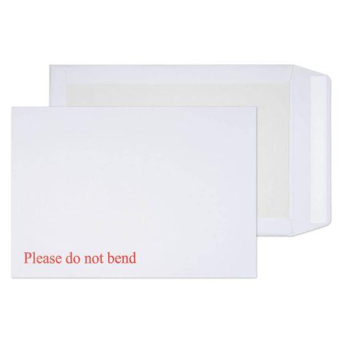 Blake Purely Packaging White Peel & Seal Board Bac k Pocket 324X229mm 120Gm2 Pack 125 Code 3266 3P