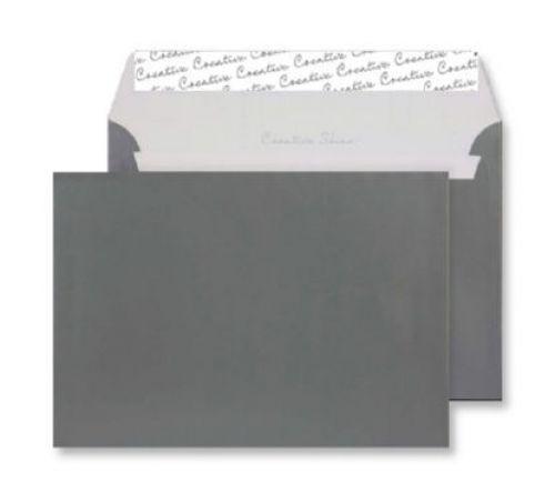 Blake Creative Shine Metallic Gunmetal Peel & Seal Wallet 162X229mm 130Gm2 Pack 500 Code 333 3P