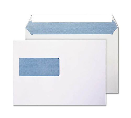 Blake Purely Everyday Ultra White Window Peel & Seal Wallet 162X229mm 120Gm2 Pack 500 Code 34708 3P