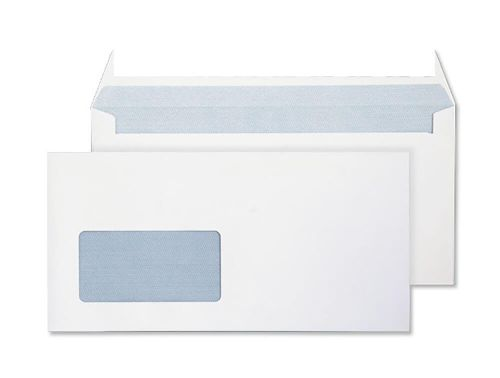 Blake Purely Everyday Bright White Window Peel & Seal Wallet 110X220mm 120Gm2 Pack 500 Code 34884 3P