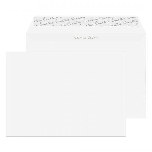 Creative Colour Wallet P&S Chalk White 120gsm C5 162x229mm Ref 355 [Pack 500] *10 Day Leadtime*