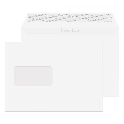 Creative Colour Wallet P&S Window Chalk White 120gsm C5 162x229mm Ref 355W Pk 500 *10 Day Leadtime*
