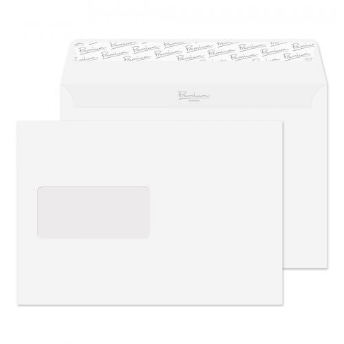 Blake Premium Business Wallet Wndw P&S High White Wove C5 120gsm Ref 35708 Pk500 *10 Day Leadtime*