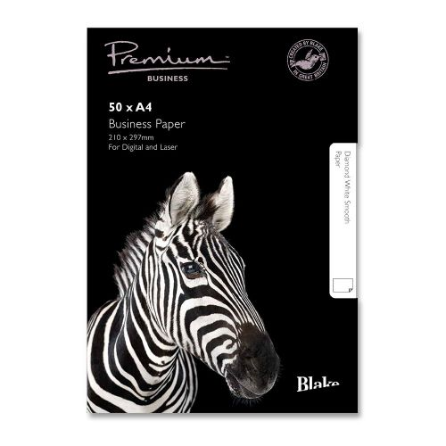 Blake Prem Paper D/Wht Wovea4 120g PK50 37676               gsm A4 [Pack 50] Ref 36676