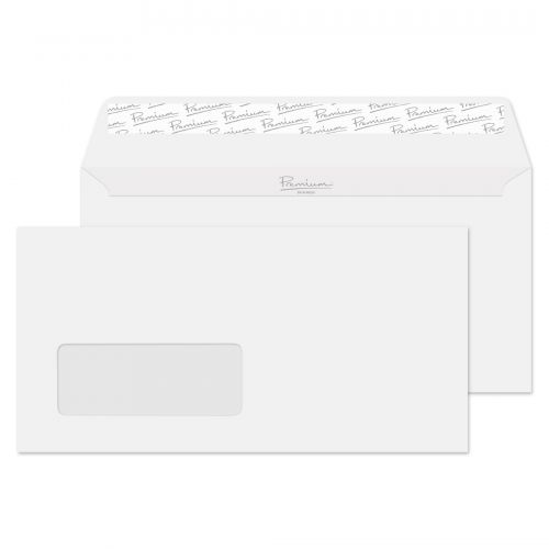 Blake Premium Business Brilliant White Wove Window P&S Wallet 110X220 120G Pk25 Code 37264 3P