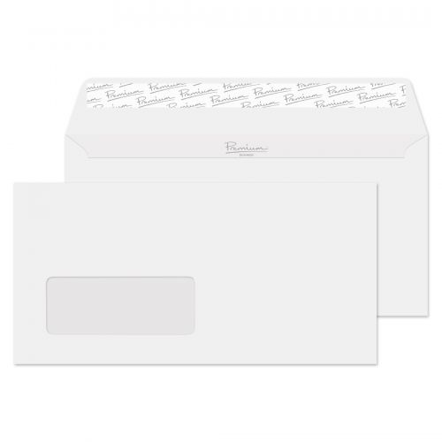 Blake Premium Business Wallet Wndw P&S Brilliant White DL 120gsm Ref 37884 Pk500 *10 Day Leadtime*