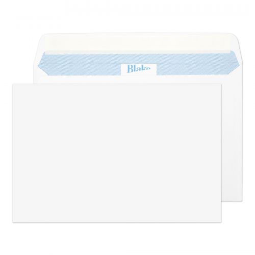 Blake Premium Office Ultra White Wove Peel & Seal Wallet 152x229mm 120gsm Pack 500 Code 39115
