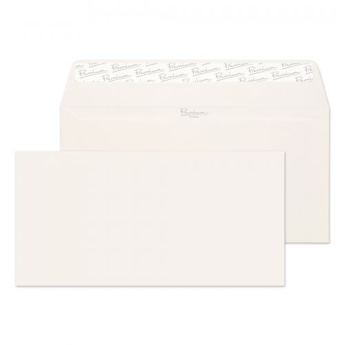 Blake Premium Business Wallet Envelope DL Peel and Seal Plain 120gsm High White Laid (Pack 50)
