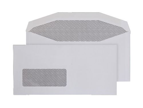 Purely Everyday Mailer Gummed Low Wndw White 90gsm DL+ 114x235 Ref 3995BW Pk1000 *10 Day Leadtime*
