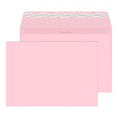 Creative Colour Baby Pink Peel and Seal Wallet C4 229x324mm Ref 401 [Pack 250] *10 Day Leadtime*